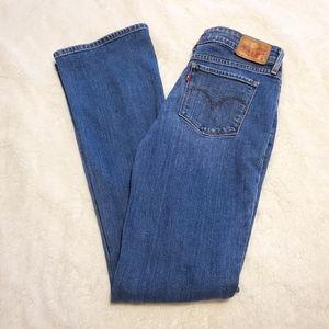 Levi's 712 27 x 32 Bootcut Medium Wash Jeans